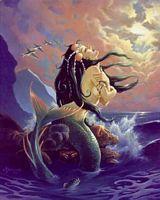 Mermaids Mermaid on a rock Fantasy Mermaids On Rocks