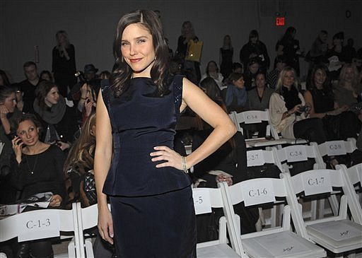 Monique Lhuillier fashion show during NY Fashion Week on Monday (February 15).