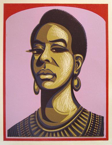 Relief Block Portrait: Nina Simone
