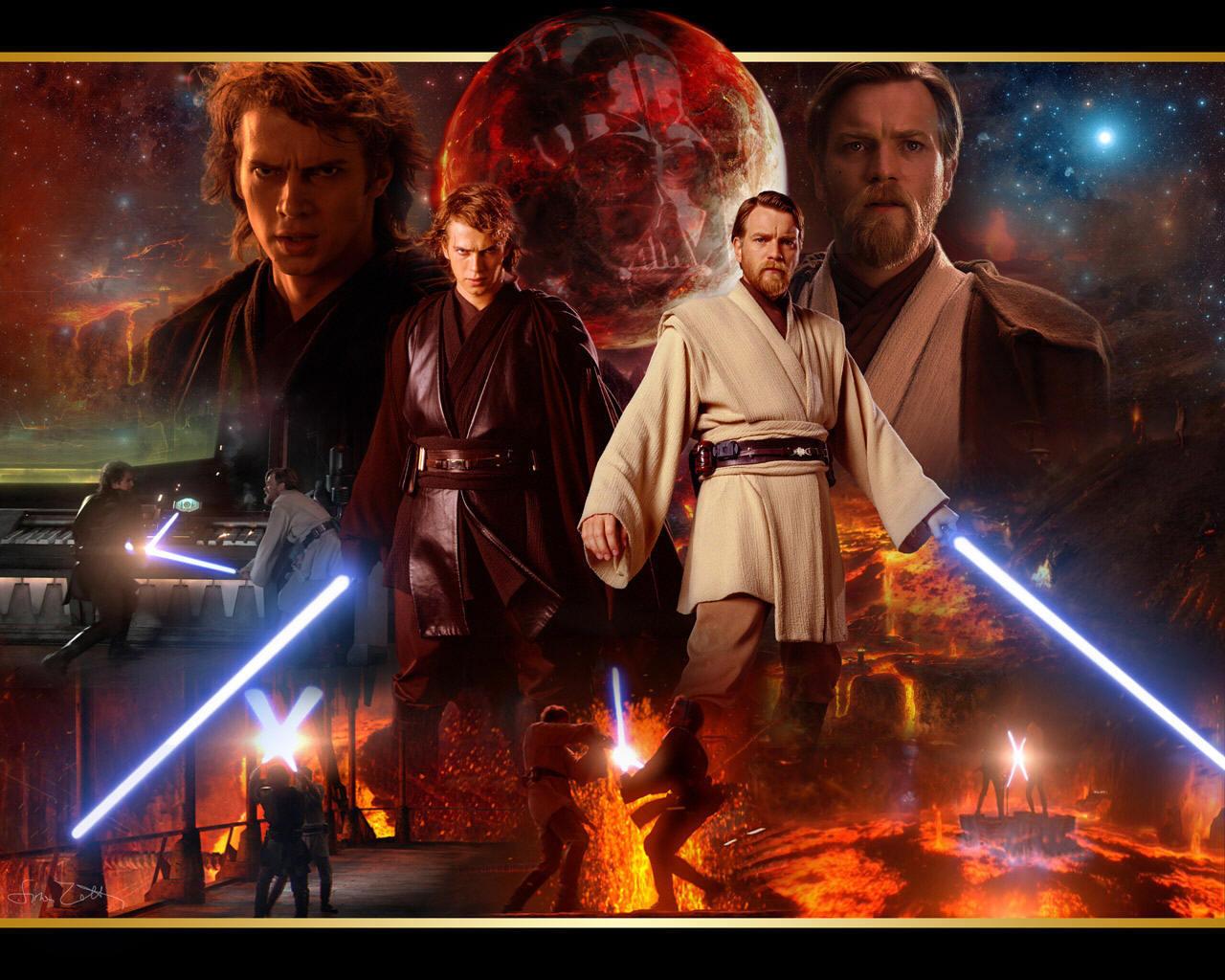 Obi-Wan and Anakin - obi-wan kenobi and Anakin skywalker ...