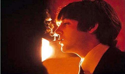 Paul smoking