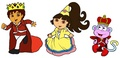 Prince Diego, Princess Dora and Prince Boots - dora-the-explorer fan art