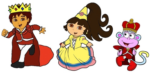 Dora the Explorer wallpaper called Prince Diego, Princess Dora and Prince Boots