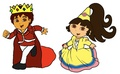 Prince Diego and Princess Dora