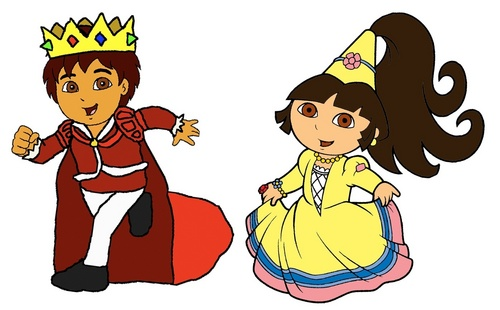 Dora the Explorer fondo de pantalla entitled Prince Diego and Princess Dora