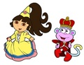 Princess Dora and Prince Boots - dora-the-explorer fan art