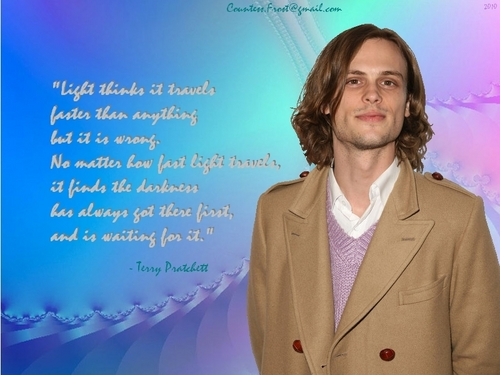 Dr. Spencer Reid wallpaper titled Reid quotes Pratchett