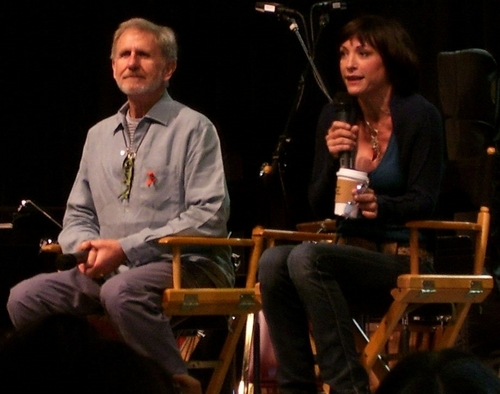 Rene Auberjonois and Nana Visitor
