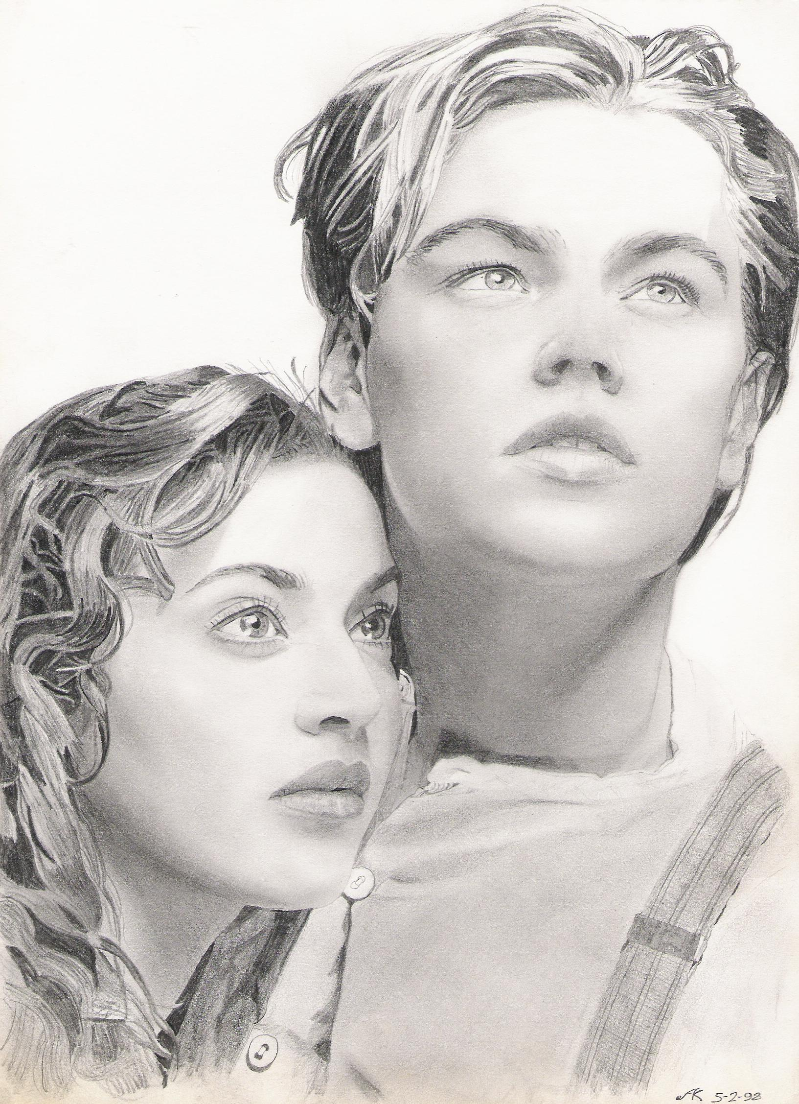 Titanic Rose and Jack drawing