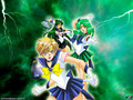 Sailor Uranus, Neptune and Pluto kertas dinding