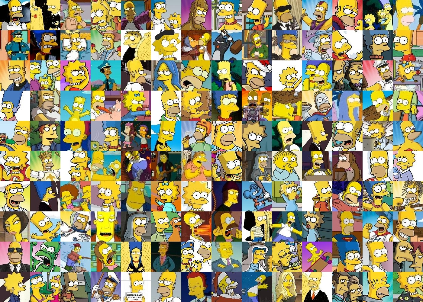 Simpsons Collage