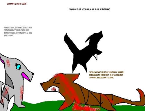 Skyhawk's death scene