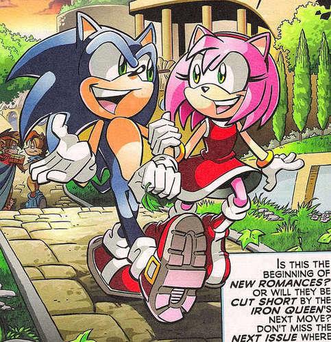 SonAmy fondo de pantalla entitled Sonic and Amy