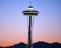 Sunset Needle - seattle wallpaper