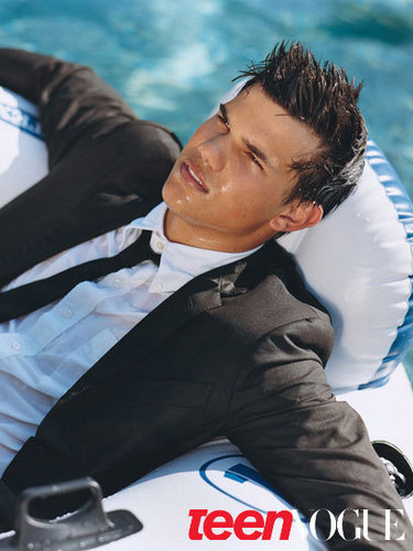 Taylor lautner for Teen Vogue Magazine photoshoot