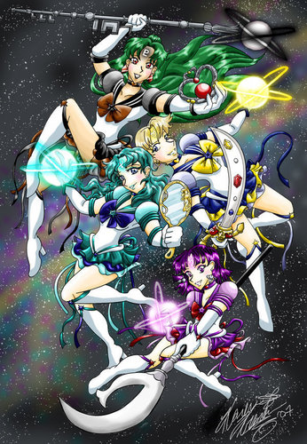 The Eternal Outer Senshi অনুরাগী art