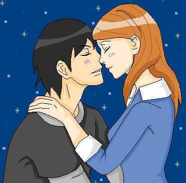 The Lovebirds Kiss