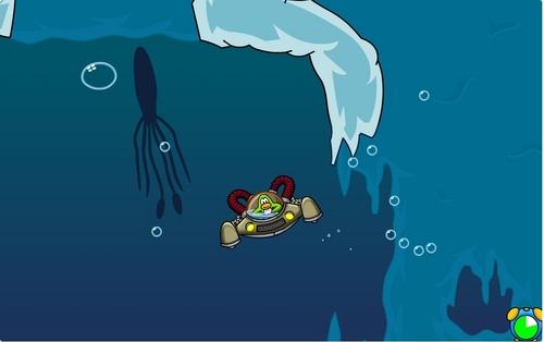 The squid in muschel waters on Aqua grabber