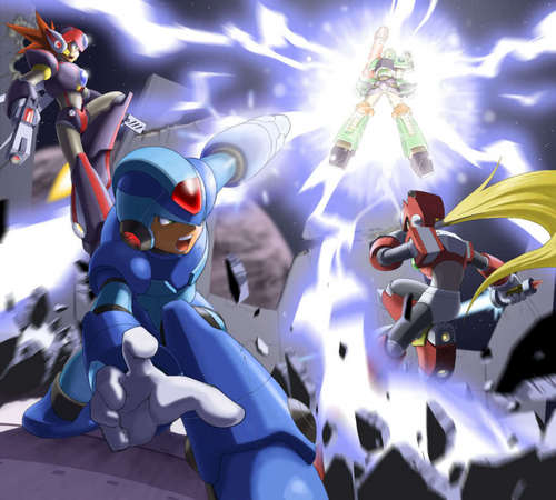 X and Zero and Axl vs Vile