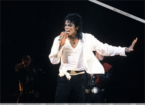 Michael Jackson concerts wallpaper entitled bad tour