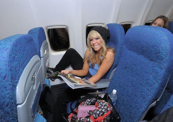 chelsie in a plane