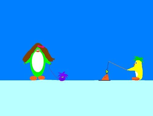 club پینگوئن, پیںگان پرستار art