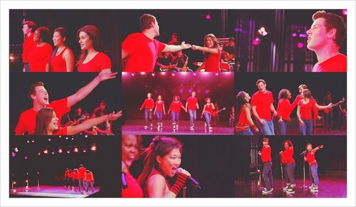 picspam: my juu 5 Glee group performances