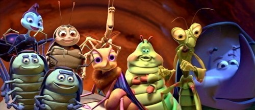 Pixar fond d'écran titled the circus bugs