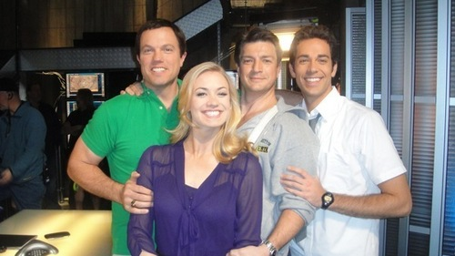 """""""Castle in Castle""""- Nathan Fillion visits the set of Chuck"""