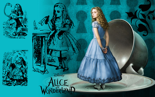 Alice wallpaper - Original Line Drawings
