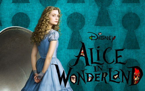 Alice in Wonderland (2010) wallpaper titled Alice Wallpaper - Window Lettering