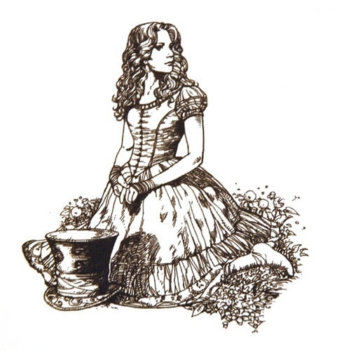Alice in Wonderland Line Drawings