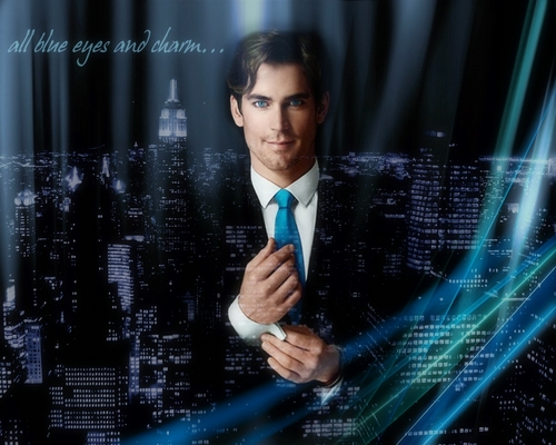 Matt Bomer Hintergrund titled All Blue Eyes And Charm...