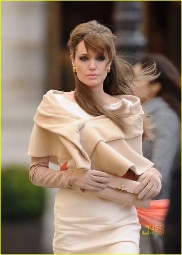 Angelina Jolie on the set of new movie
