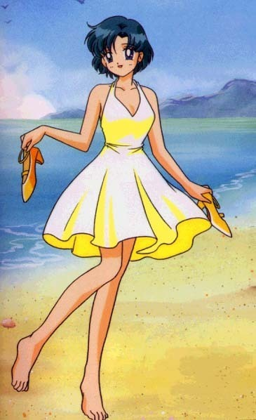 Ami in a yellow dress