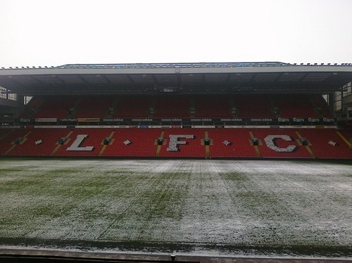 Anfield in the Snow