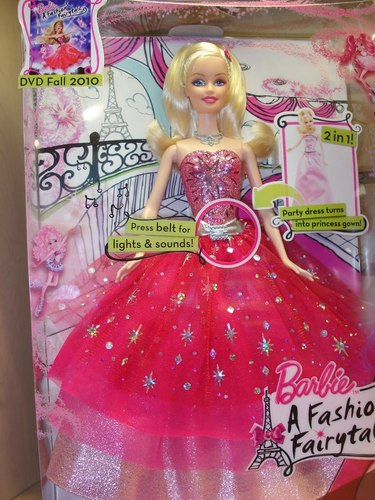 Barbie in a Fasion Fairytale anak patung