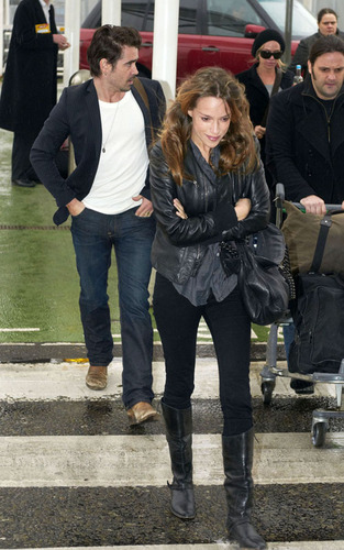 Colin and Alicja arriving at Heathrow Airport