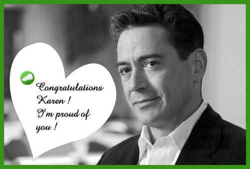 Congrats Dear Sweet Karen !