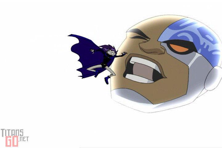 Cyborg scares Raven