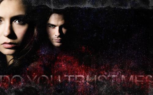 Damon and Elena fondo de pantalla