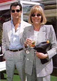 Diana with Pierce Brosnan