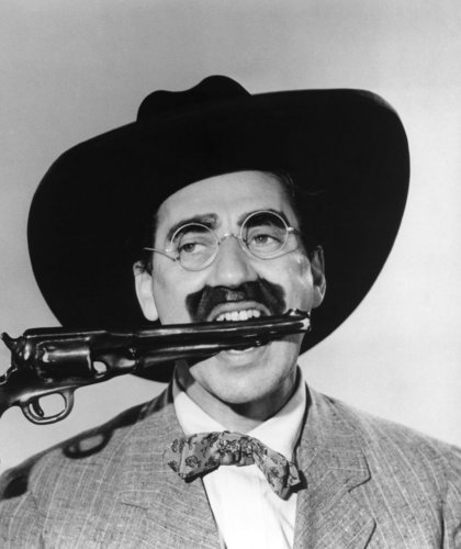 Groucho in 'Go West'