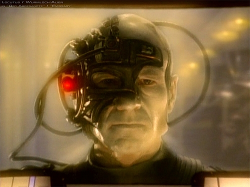 Jean-Luc Picard as Locutus of Borg