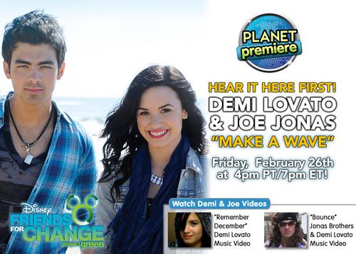 Joe and Demi - Make A Wave (Radio Disney Planet Premiere)