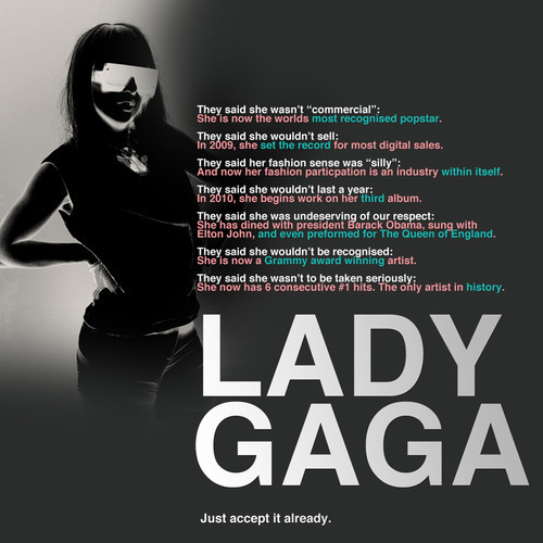 Just Accept It Already: LADY | GAGA,The Musical 'Phenomenon'