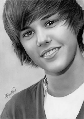 Justin Bieber Drawing by Rajacenna