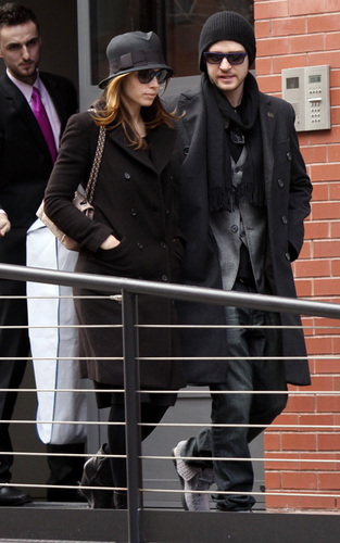 Justin Timberlake and Jessica Biel out in NYC (Feb 18)