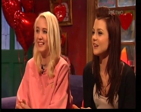 Lily & Kat at the cafe interview