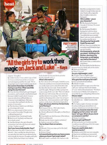 Kaya/Luke/Jack - Heat Magazine.